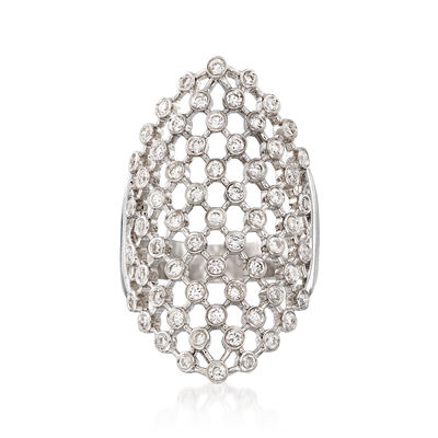 1.00 ct. t.w. Diamond Mesh-Style Ring in 14kt White Gold, , default