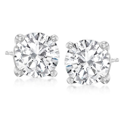 4.00 ct. t.w. Diamond Stud Earrings in Platinum