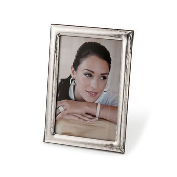 8 X 10 Italian Hammered-Edge Photo Frame in Sterling Silver Overlay , , default