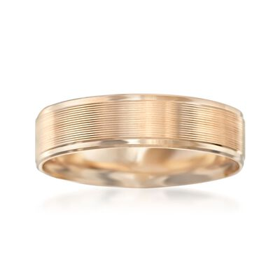 Men's 6mm 14kt Yellow Gold Wedding Ring, , default