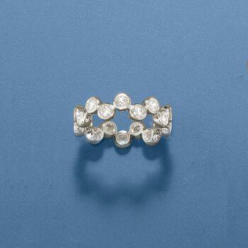 1.60 ct. t.w. Bezel-Set CZ Ring in Sterling Silver, , default