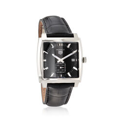 TAG Heuer Monaco Women's 37mm Stainless Steel Watch With Black Alligator, , default