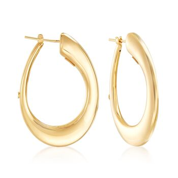 """Roberto Coin """"Oro Classic"""" 18kt Yellow Gold Small Hoop Earrings. 1 1/2"""", , default"""