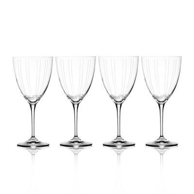 """Mikasa """"Berlin"""" Set of 4 White Wine Glasses"""