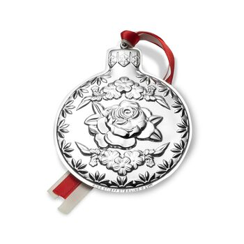 """Kirk Stieff 2017 Annual """"Repousse"""" Sterling Silver Ornament - 9th Edition, , default"""