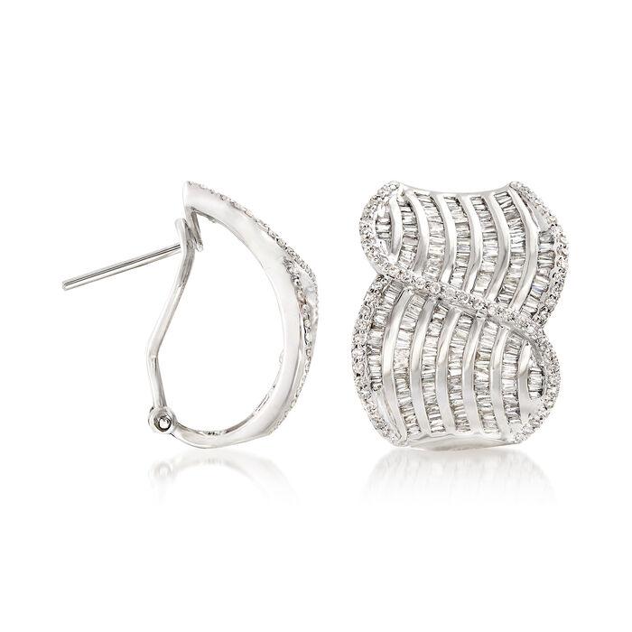 2.00 ct. t.w. Diamond Swirl Drop Earrings