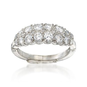 C. 1970 Vintage 1.20 ct. t.w. Diamond Ring in Platinum and 14kt White Gold. Size 5, , default