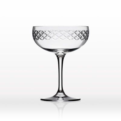 """Rolf Glass """"Diamond"""" Set of 4 Coupe Champagne Saucer Glasses, , default"""