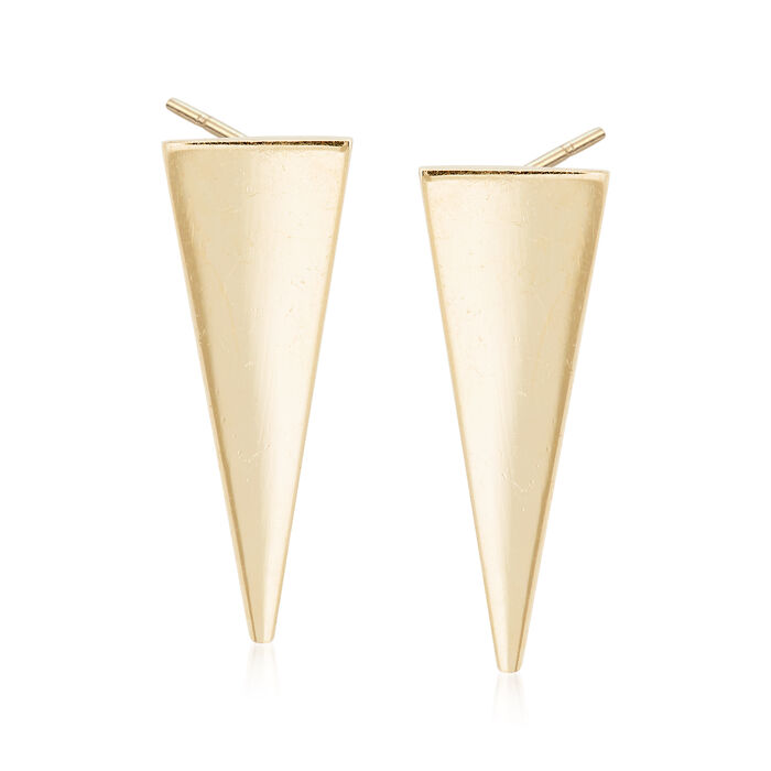 14kt Yellow Gold Triangle Drop Earrings
