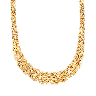 14kt Yellow Gold Byzantine Necklace, , default