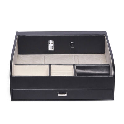 """Brouk & Co. """"Teddy"""" Wooden and Faux Leather Charging Valet Station, , default"""