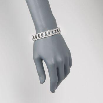 """C. 1990 Vintage 6.25 ct. t.w. Diamond Fancy Link Bracelet in Platinum. 7.5"""", , default"""