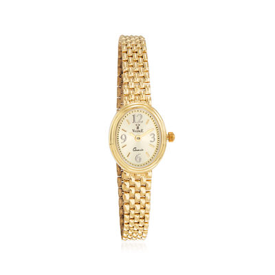 Italian Vicence Women's 16mm 14kt Yellow Gold Watch