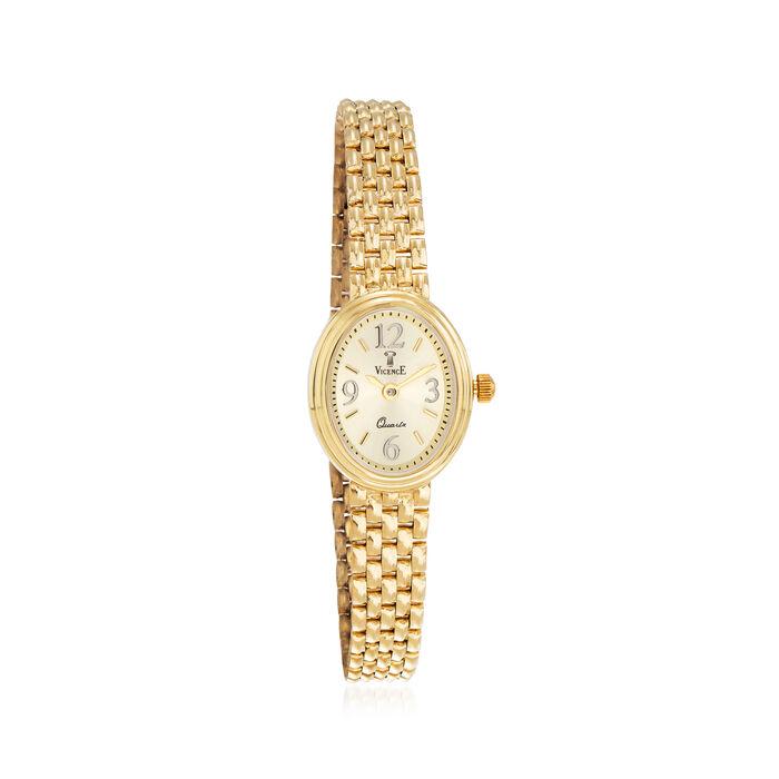 Italian Vicence Women's 16mm 14kt Yellow Gold Watch, , default