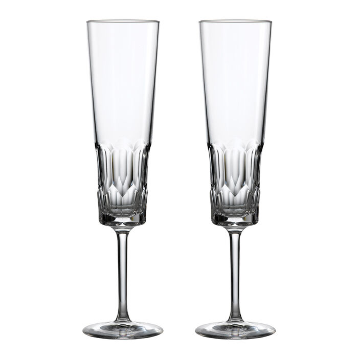 """Waterford Crystal """"Icon"""" Set of 2 Flute Glasses, , default"""