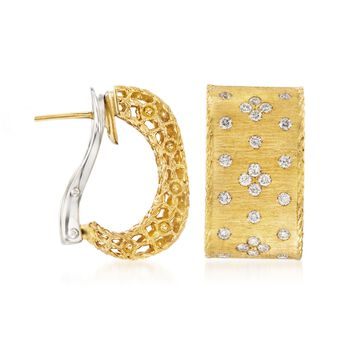 """Roberto Coin """"Princess"""" .70 ct. t.w. Diamond Earrings in 18kt Yellow Gold, , default"""