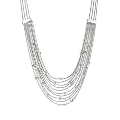 C. 1980 Vintage H. Stern .85 ct. t.w. Diamond Multi-Strand Necklace in 18kt White Gold, , default