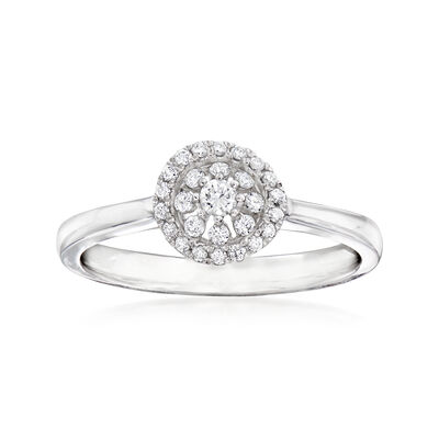 C. 1990 Vintage Piero Milano .20 ct. t.w. Diamond Cluster Ring in 18kt White Gold, , default