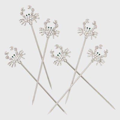 Joanna Buchanan Set of 6 Crab Cocktail Picks