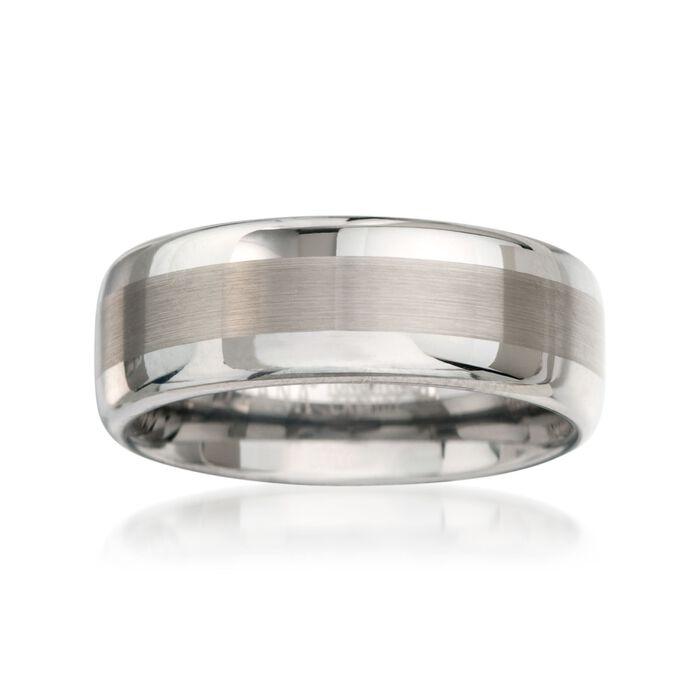Men's 8mm Tungsten Carbide Wedding Ring