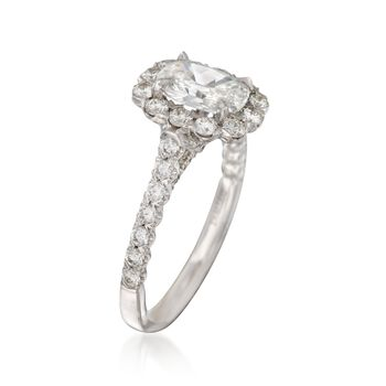 Henri Daussi 2.08 ct. t.w. Certified Diamond Engagement Ring in 18kt White Gold, , default