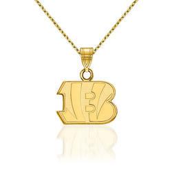 """14kt Yellow Gold NFL Cincinnati Bengals Pendant Necklace. 18"""", , default"""