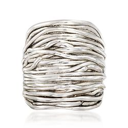 Sterling Silver Multi-Row Wrap Ring, , default