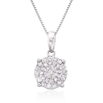 ".25 ct. t.w. Diamond Pendant Necklace in Sterling Silver. 18"", , default"