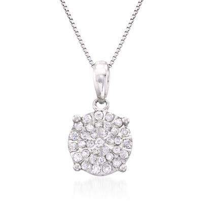 .25 ct. t.w. Diamond Pendant Necklace in Sterling Silver, , default