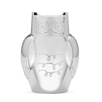 "Kate Spade New York ""Small World"" Silverplate Owl Bank, , default"