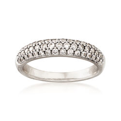 """C. 1980 Vintage .60 ct. t.w. Diamond Ring in 14kt White Gold. 5.25"""", , default"""