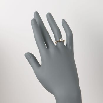 C. 1990 Vintage .59 Carat Diamond Solitaire Engagement Ring in 14kt Yellow Gold. Size 5.5, , default