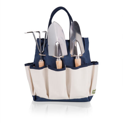 Navy and Beige Garden Tote with 3-pc. Tool Set