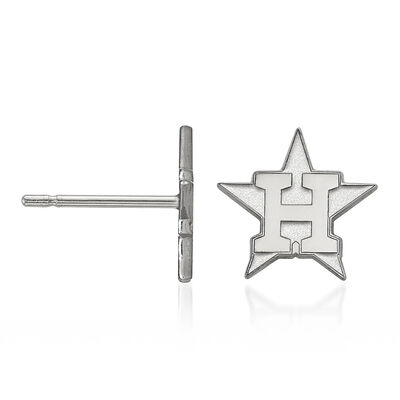 Sterling Silver MLB Houston Astros Extra Small Stud Earrings, , default