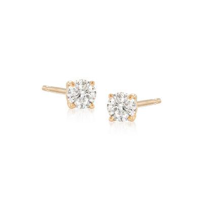 .10 ct. t.w. Diamond Stud Earrings in 14kt Yellow Gold, , default