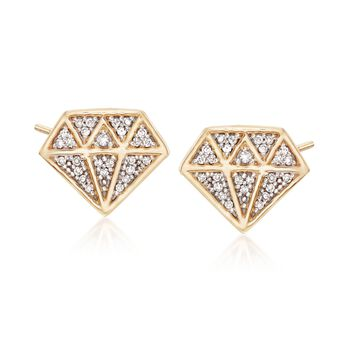 .10 ct. t.w. Diamond Icon Earrings in 14kt Yellow Gold , , default