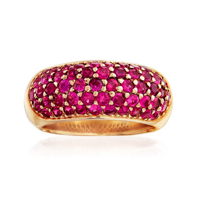 C. 1980 2.70 ct. t.w. Ruby Ring in 18kt Yellow Gold, , default