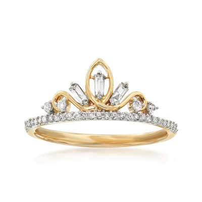 .20 ct. t.w. Diamond Tiara Ring in 14kt Yellow Gold
