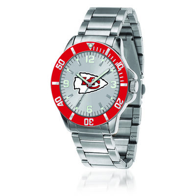 Men's 46mm NFL Kansas City Chiefs Stainless Steel Key Watch, , default