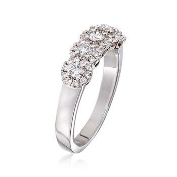 Henri Daussi .65 ct. t.w. Five-Stone Diamond Ring in 18kt White Gold, , default