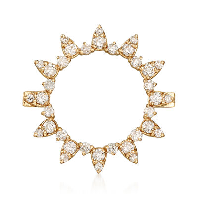 .51 ct. t.w. Diamond Circle Pin in 14kt Yellow Gold , , default