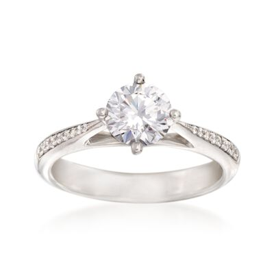 Simon G. .11 ct. t.w. Diamond Engagement Ring Setting in 18kt White Gold, , default