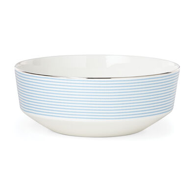 "Kate Spade New York ""Laurel Street"" Blue and White Ceramic Serving Bowl, , default"