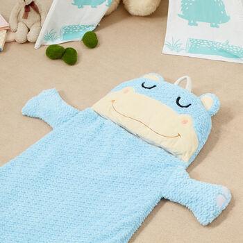 Child's Hippo Plush Sleeping Bag, , default