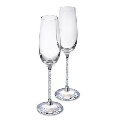 "Swarovski Crystal ""Crystalline"" Champagne Flutes"