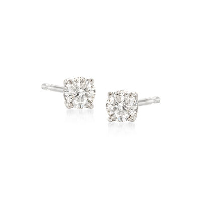 .15 ct. t.w. Diamond Stud Earrings in 14kt White Gold, , default