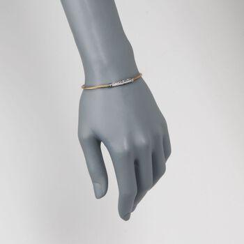 """ALOR """"Classique"""" .10 ct. t.w. Diamond Yellow Cable Bracelet With 18kt White Gold. 7"""", , default"""