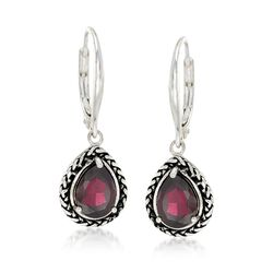 2.50 ct. t.w. Garnet Woven Drop Earrings in Sterling Silver, , default