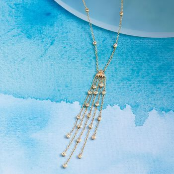.20 ct. t.w. Diamond Tassel Necklace in 14kt Yellow Gold, , default