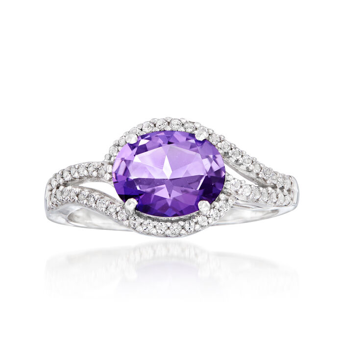 1.80 ct. t.w. Purple and White Swarovski Topaz Ring in Sterling Silver